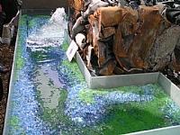 רסק זכוכית צבעונית